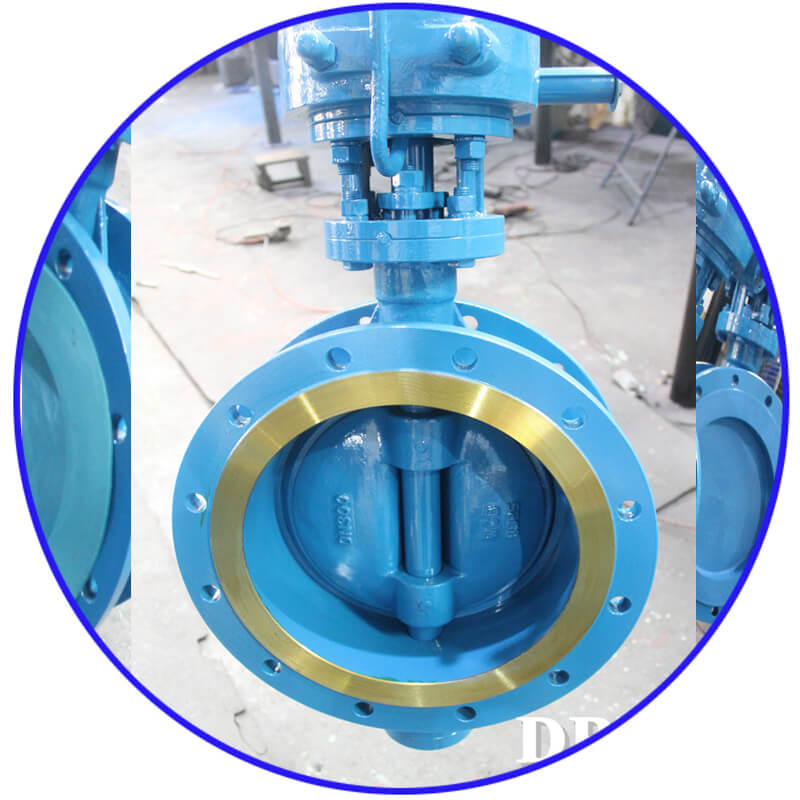 D1 9 Worm WCB Flange Triple Eccentric Butterfly Valve 9 3
