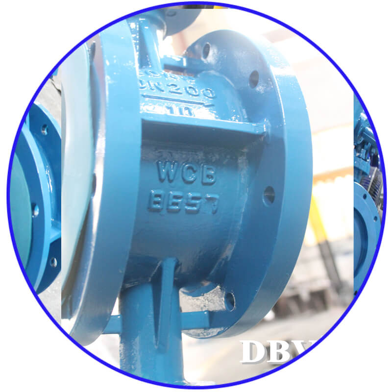 D1 9 Worm WCB Flange Triple Eccentric Butterfly Valve 9 5