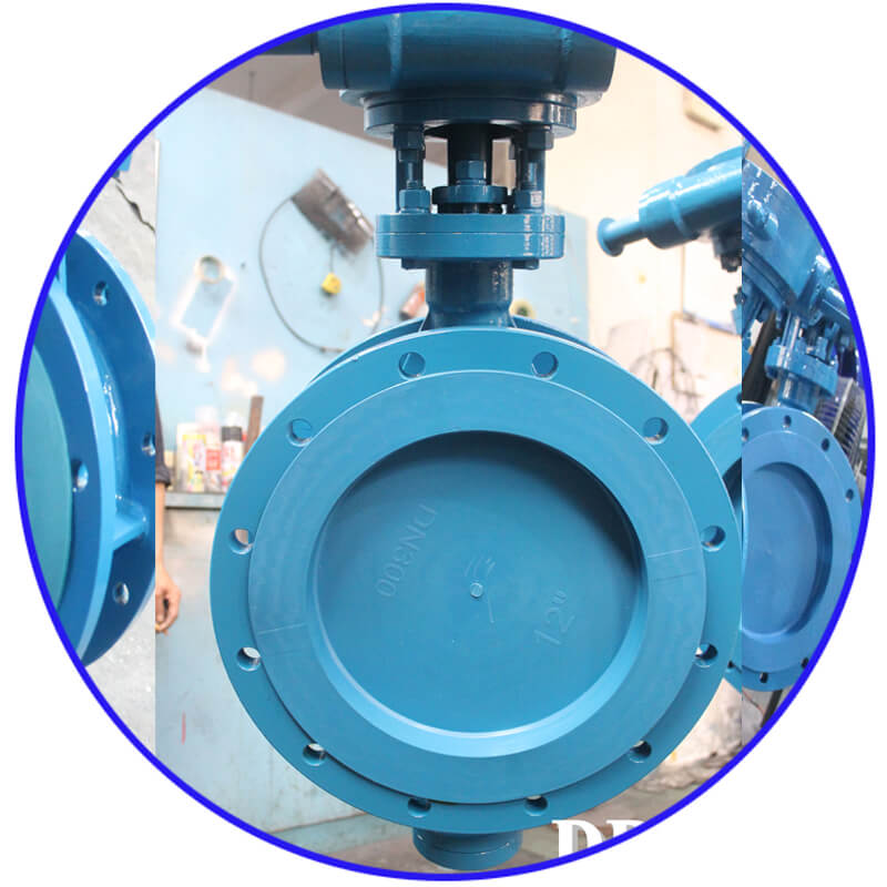 D1 9 Worm WCB Flange Triple Eccentric Butterfly Valve 9 7