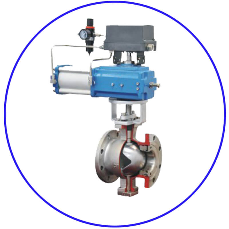 Q6 2 Pneumatic V type Ball Valves 11