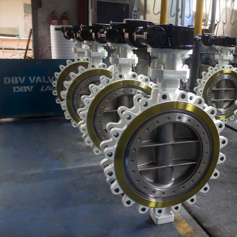Worm Gear Lug WCB+6A Triple Eccentric Butterfly Valve