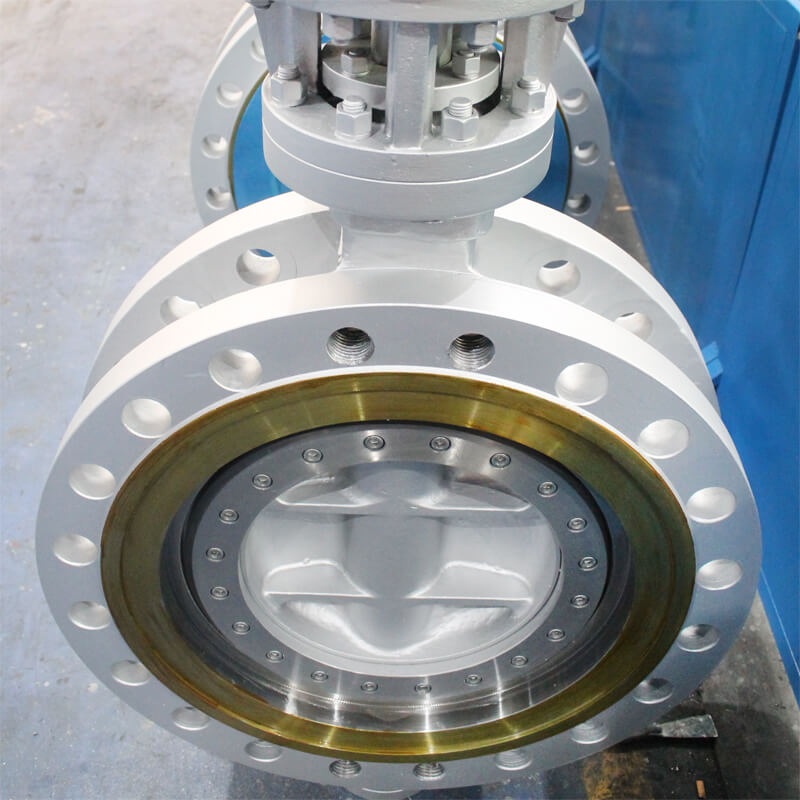 offset butterfly valve flange type