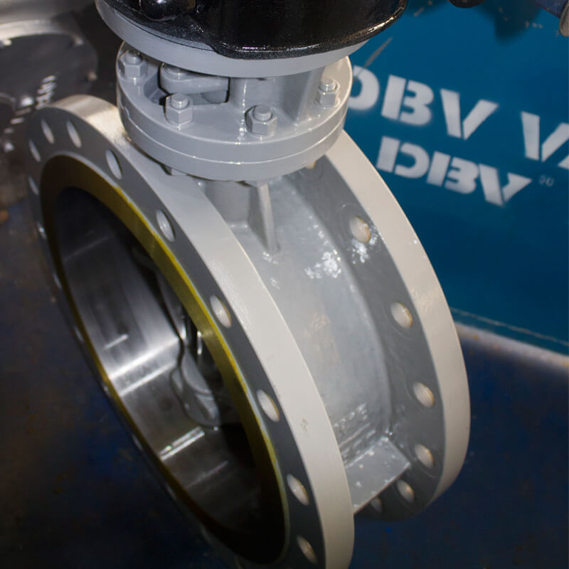 WCB PN16 Triple Eccentric Butterfly Valve with Gear Box