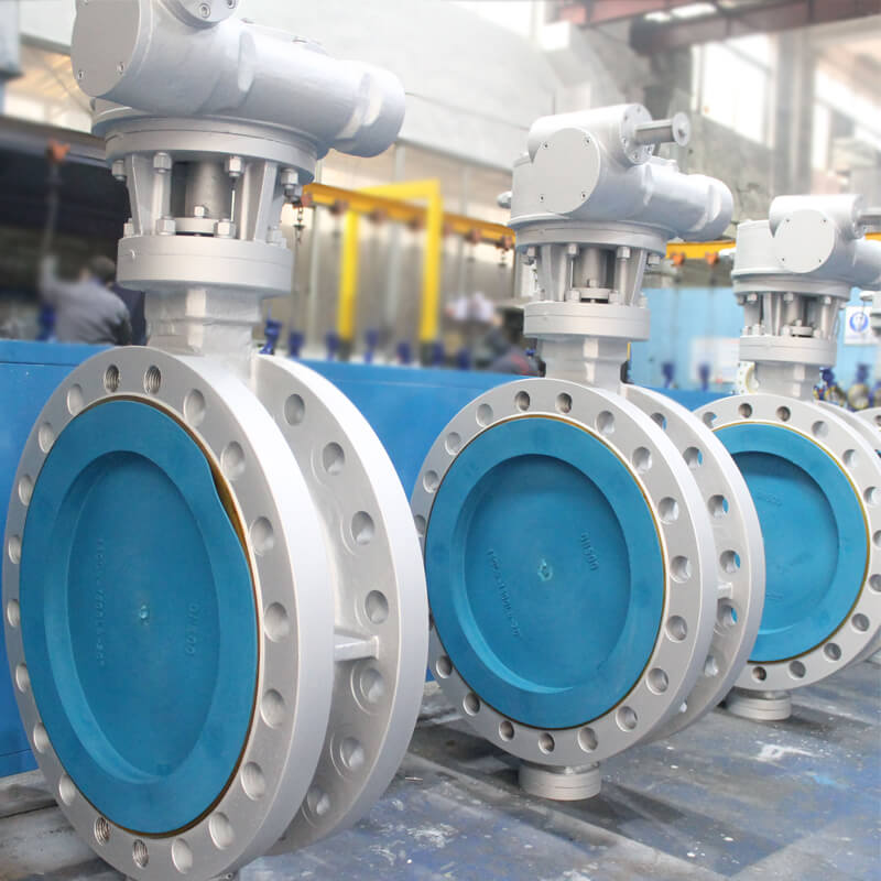 flange type triple offset butterfly valve