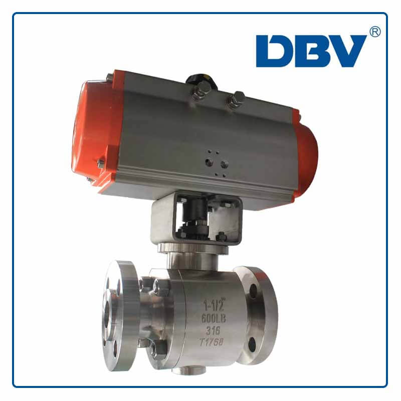 Pneumatic stainless steel 316 forged Ball Valve
