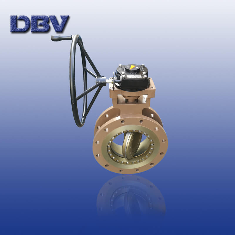 Wholly Metal to Metal Flange Triple Offset Butterfly Valve with Gear Box