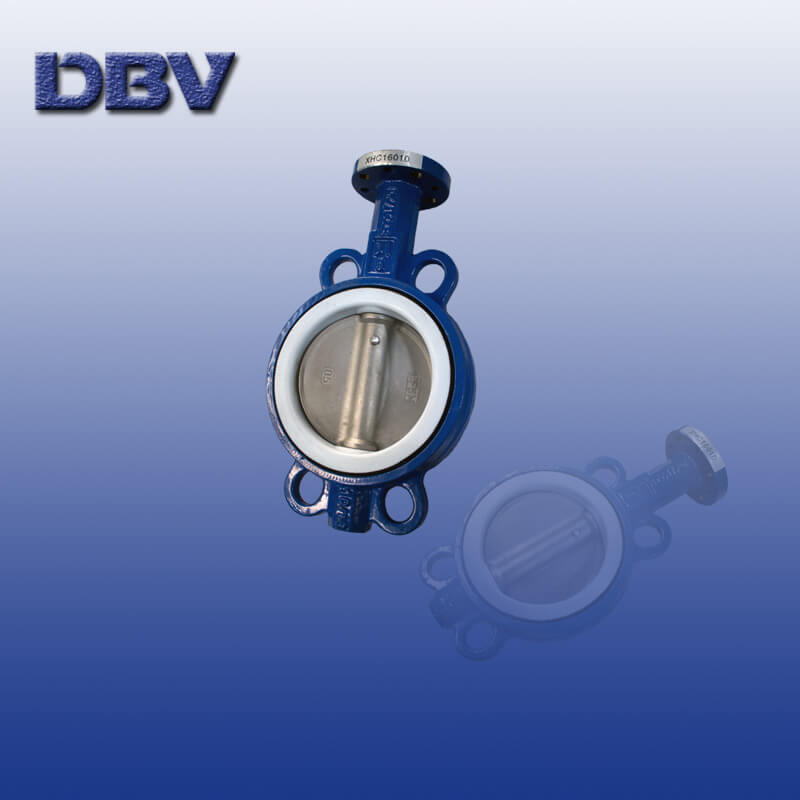 Bare Shaft Cast iron Wafer Butterfly Valve DN150