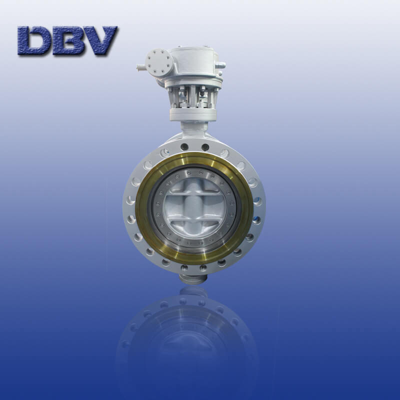 Cryogenic triple offset flanged butterfly valve