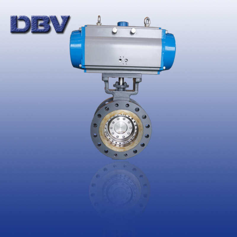 High pressure metal to metal WCB butterfly valve 300LB