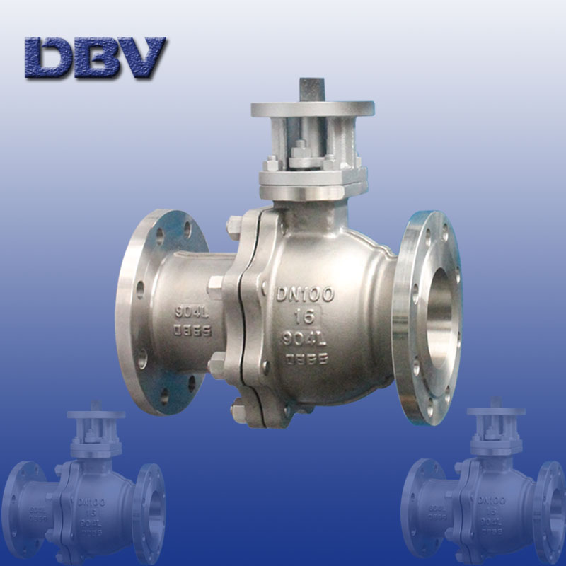 Flanged 904L stainless steel Ball Valve DN100