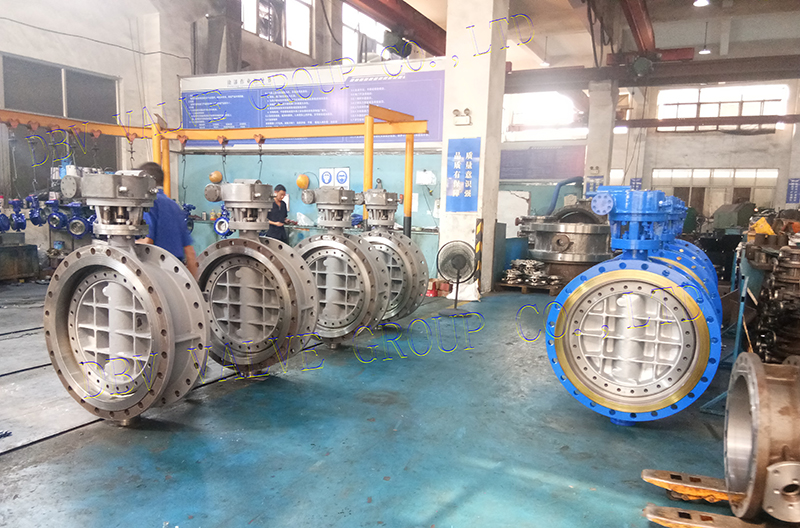 DN700-PN16 triple eccentric butterfly valve