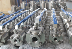 Socket welded floating ball valve