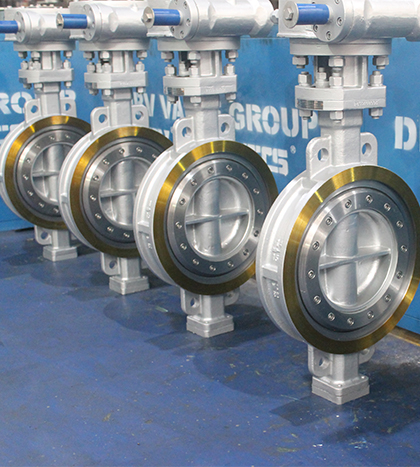 triple offset wafer type butterfly valve