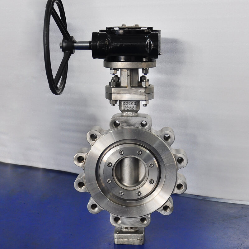 stainless steel pipe butterfly valve