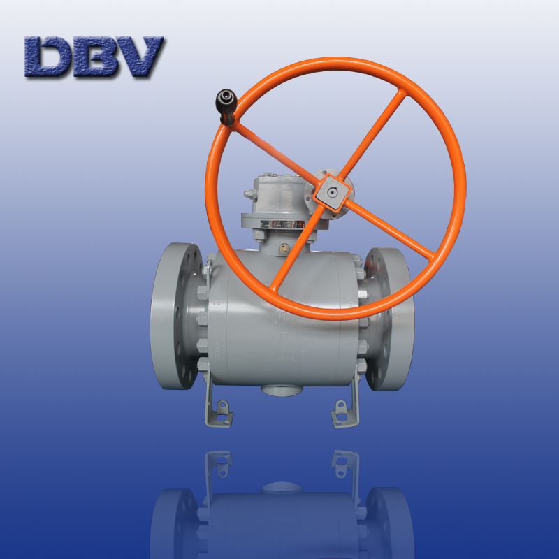 Trunnion mounted forged ball valve 3 PC body class 600 Flanged
