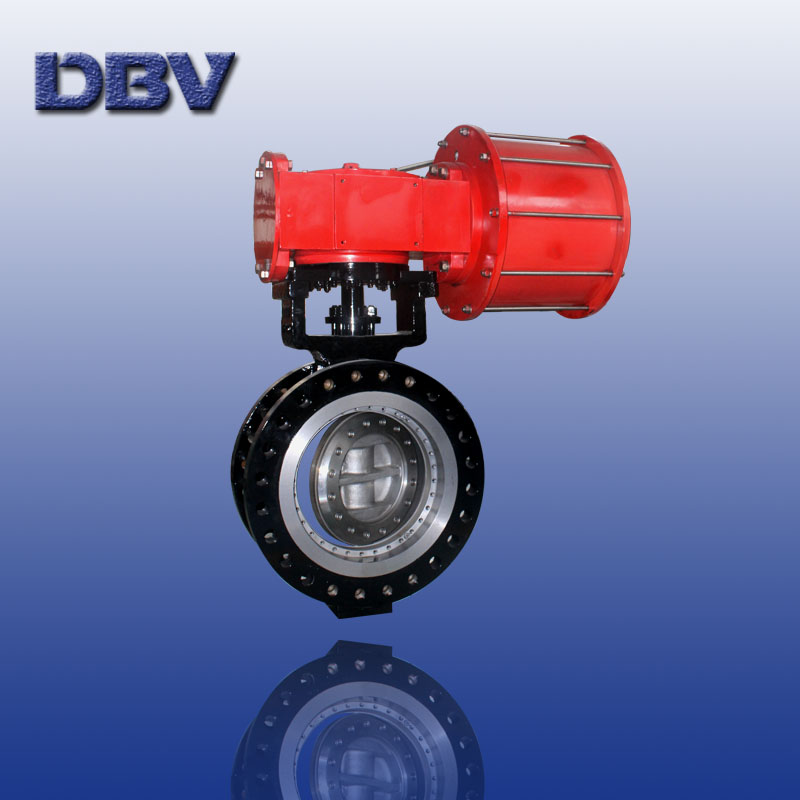 Fully metal seated butterfly Valves with Pneumatic operated