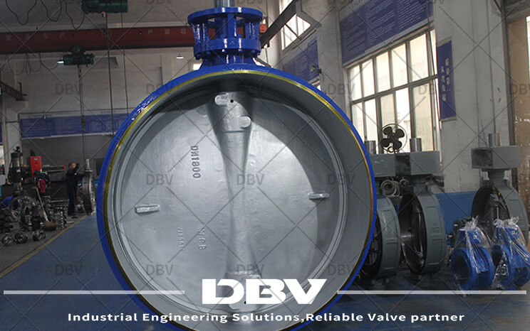DN1800-PN6 butterfly valve was finished