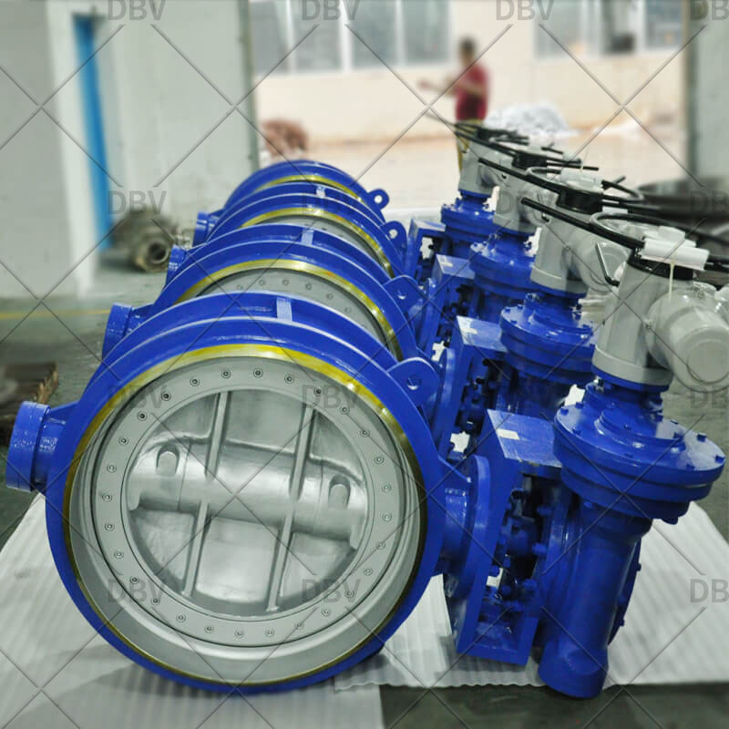 butterfly valve butt welded type
