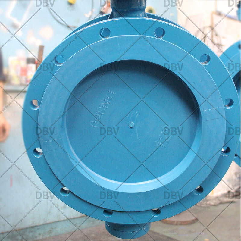 Manual WCB flanged butterfly valve