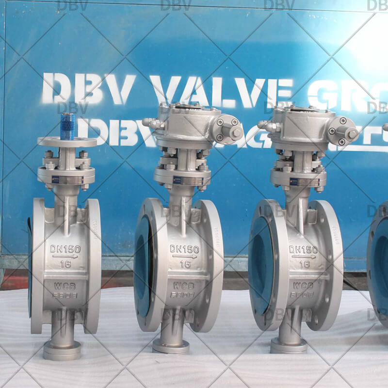 flange type industrial butterfly Valve