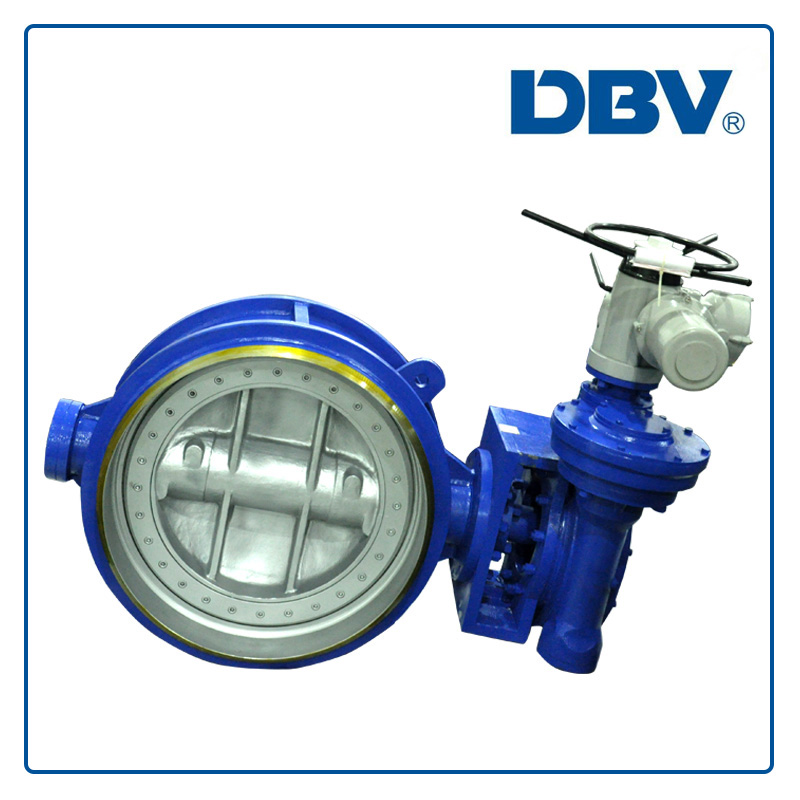 Electric Actuated CL150 Butt welded WCB Triple Offset Butterfly Valves