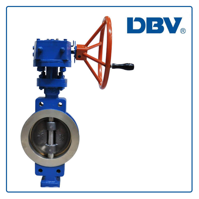 wafer type triple eccentric butterfly valve