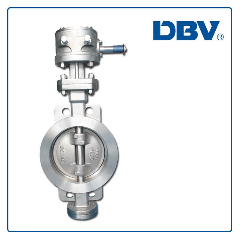 Worm Gear Wafer Metal to Metal Triple Offset Butterfly Valve