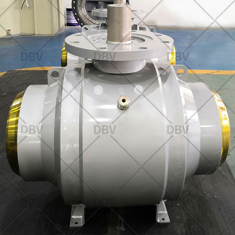 API 6D Fully Welded Pneumatic Actuator Trunnion Mounted Ball Valve Price
