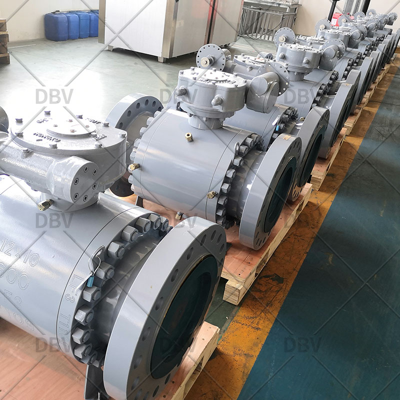 Trunnion mounted ball valve factory