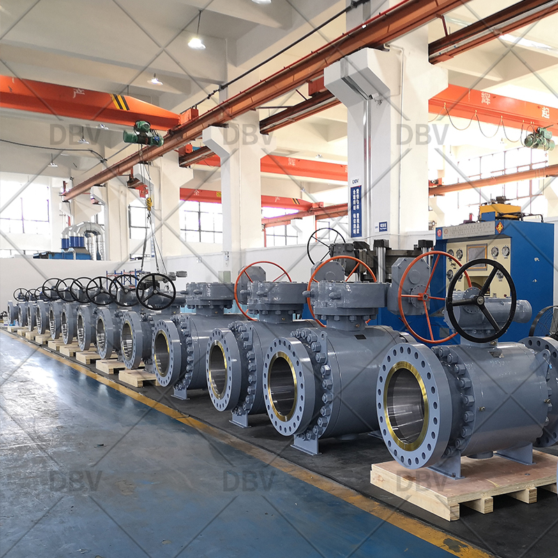 Big size trunnion mounted ball valve