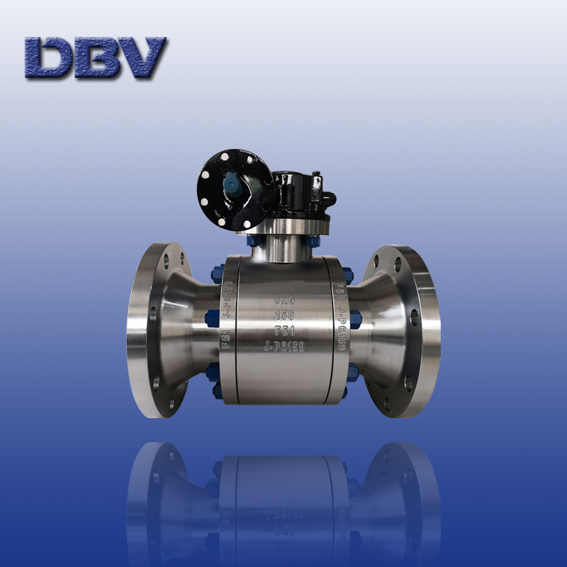 Reduce bore(RB)Trunnion mounted ball valve forged Duplex stainless steel F51