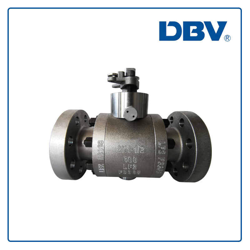 Low temperature(LTCS)Trunnion mounted ball valve forged steel LF2 Reduce bore