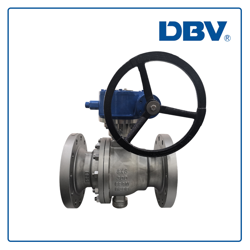 Trunnion mounted stainless steel Ball valve CF8M Reduce bore