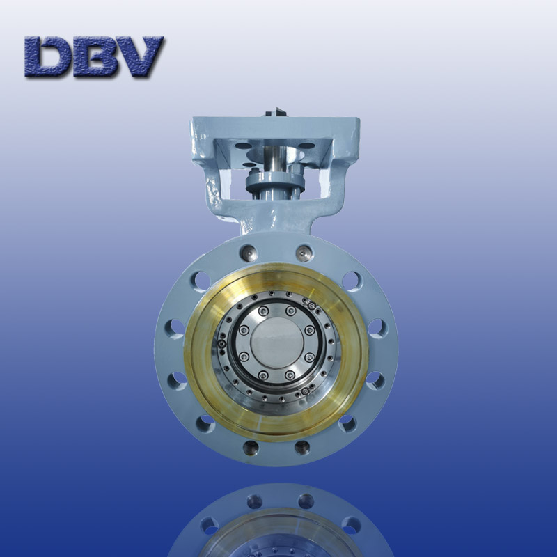 Flange type butterfly valve with multi spline stem design