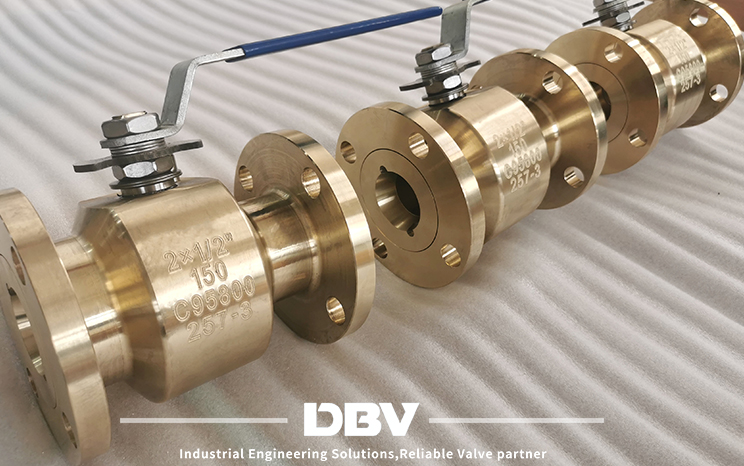 What is the applicable working condition for ball valve in aluminum bronze valve?
