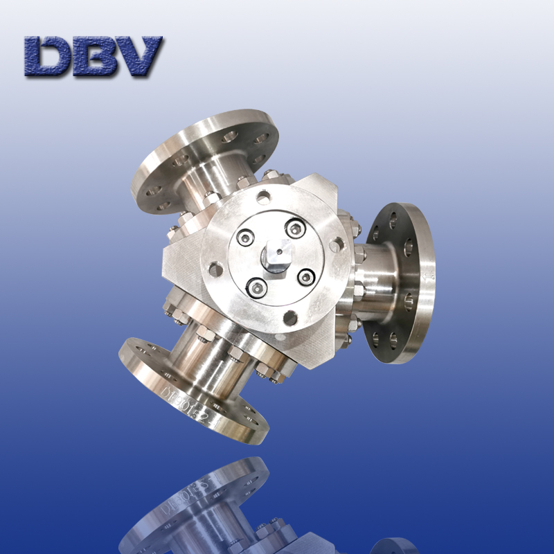 Y pattern 3 way ball valve with stainless steel