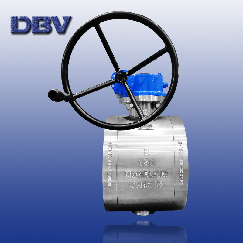 Wafer trunnion ball valve