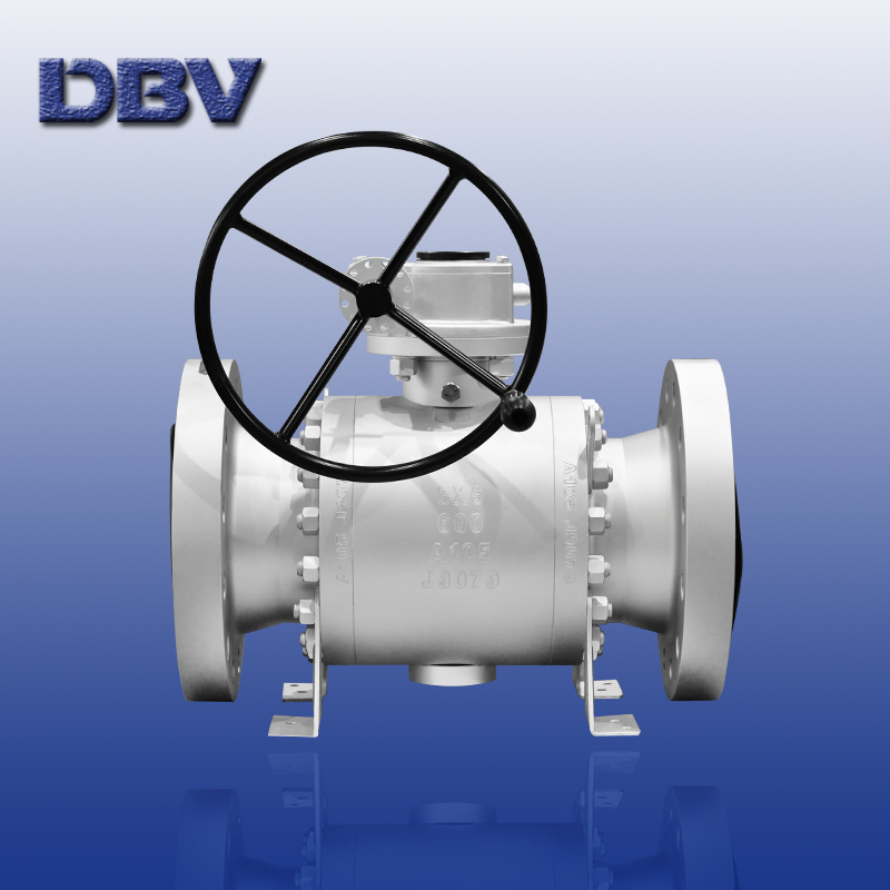 Trunnion ball valves with reduce bore